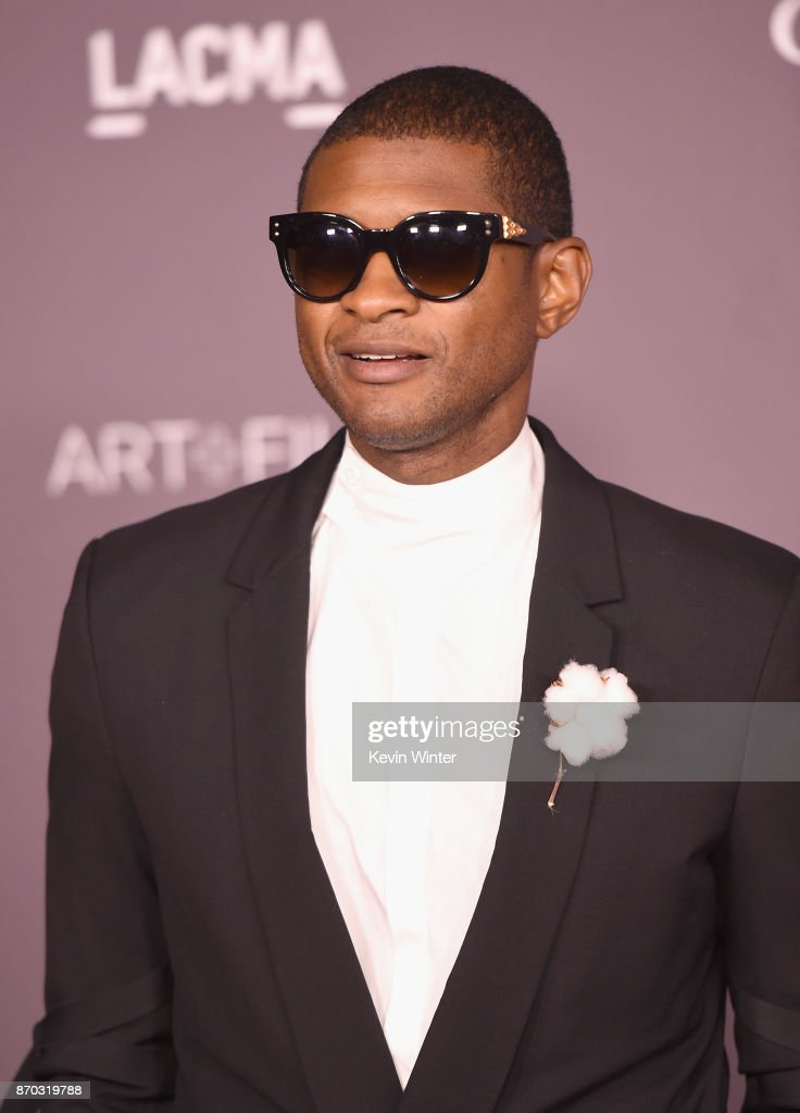 Usher attends the 2017 LACMA Art + Film Gala Honoring Mark Bradford And George Lucas at LACMA on November 4, 2017 in Los Angeles, California.