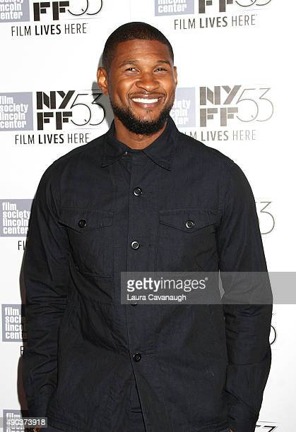 Usher attends the 53rd New York Film Festival 'The Martian' Premiere at Alice Tully Hall on September 27 2015 in New York City