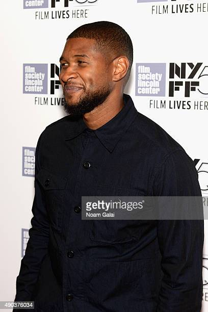 Usher attends the 53rd New York Film Festival 'The Martian' Premiere Arrivals at Alice Tully Hall on September 27 2015 in New York City