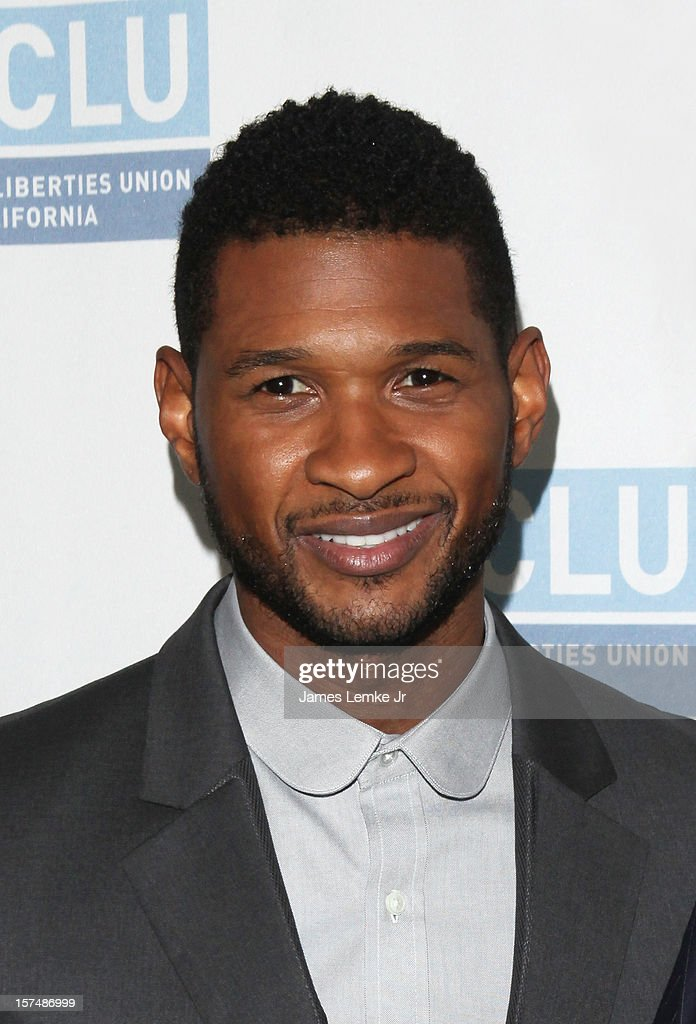 Usher attends the ACLU of Southern California's 2012 Bill of Rights Dinner held at the Beverly Wilshire Four Seasons Hotel on December 3, 2012 in Beverly Hills, California.