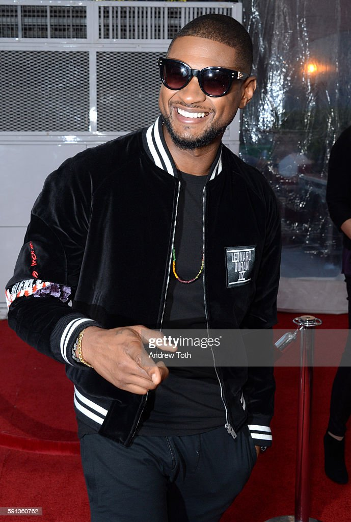 Usher attends the 'Hands of Stone' US premiere at SVA Theater on August 22 2016 in New York City