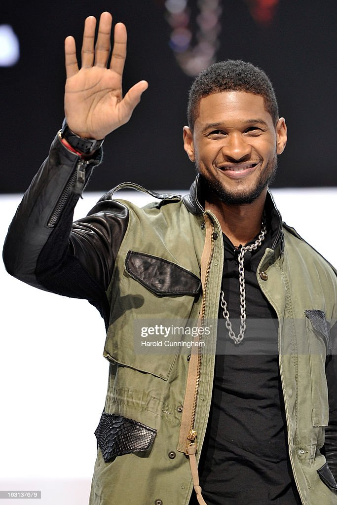 Usher attends the Mercedes-Benz presentation during the 83rd Geneva Motor Show on March 5, 2013 in Geneva, Switzerland. Held annually the Geneva Motor Show is one of the world's five most important auto shows with this year's event due to unveil more than 130 new products.