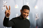 Usher attends the NBC's 'The Voice' Season 4 Premiere at TCL Chinese Theatre on March 20 2013 in Hollywood California