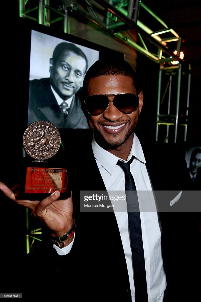 Usher backstage at the 12th Annual Ford Freedom Awards Scholars Lecture at the Charles H. Wright Museum of African American History on May 6, 2010 in Detroit, Michigan.