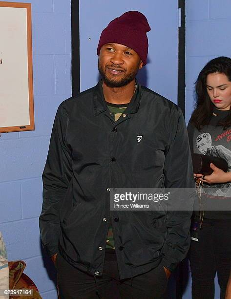 Usher Backstage at the PartyNextDoor and Jeremih Summer's Over Tour at The Tabernacle on November 14 2016 in Atlanta Georgia