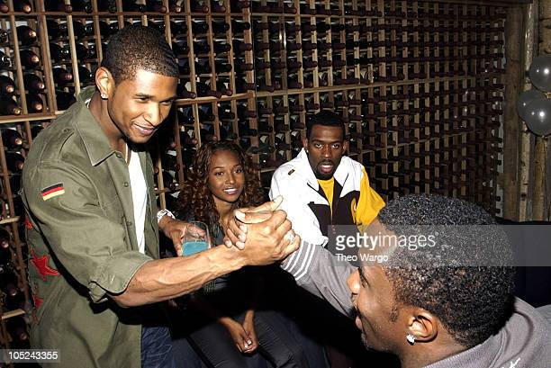Usher Chilli and Sean 'P Diddy' Combs during Narciso Rodriguez Hosts Carmen Kass' 25th Birthday Party at Butter in New York New York United States