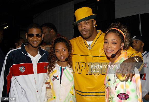Usher Chilli of TLC Busta Rhymes and TBoz of TLC