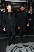 Usher departs The Mark Hotel for the Met Gala at the Metropolitan Museum of Art on May 4 2015 in New York City