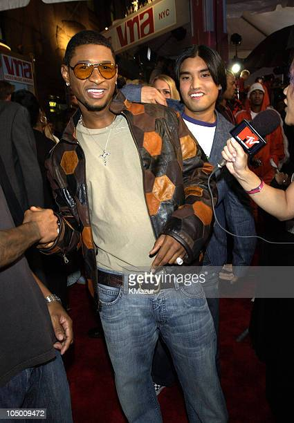 Usher during 2002 MTV Video Music Awards Arrivals at Radio City Music Hall in New York City New York United States