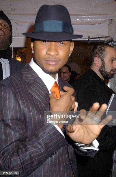 Usher during 2003 Clive Davis PreGRAMMY Party Arrivals at The Regent Wall Street in New York City New York United States