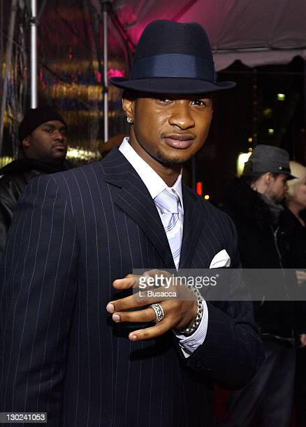 Usher during Pink and Arista Records Host A PreGRAMMY Party at Show Nightclub in New York City New York United States