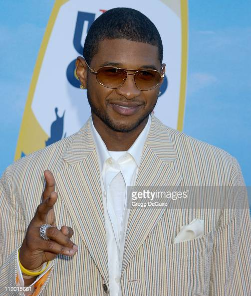 Usher during The 2004 Teen Choice Awards Arrivals at Universal Ampitheatre in Universal City California United States
