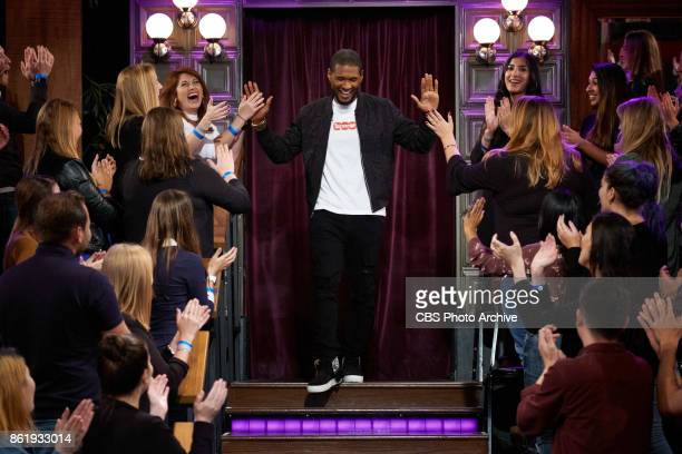 Usher greets the audience during 'The Late Late Show with James Corden' Thursday October 12 2017 On The CBS Television Network
