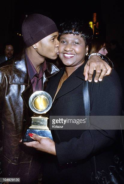 Usher mother during The 40th Annual GRAMMY Awards at Radio City Music Hall in New York City New York United States