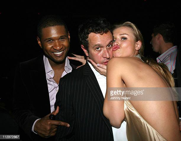Usher Pauly Shore and Joanna Krupa during Tao Las Vegas New Year's 2007 Celebration Hosted by Pamela Anderson and Pauly Shore Featuring Usher and...