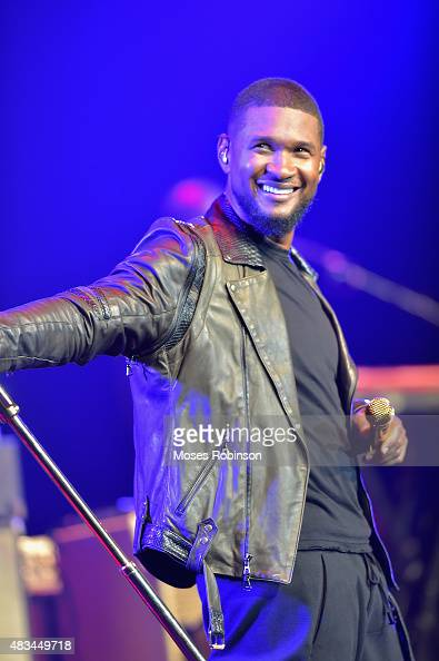 Usher performs at the 2015 Ford Neighborhood Awards Hosted By Steve Harvey at Phillips Arena on August 8 2015 in Atlanta Georgia