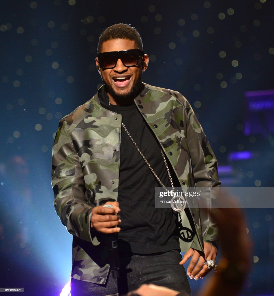 Usher performs at the So So Def 20th anniversary concert at the Fox Theater on February 23, 2013 in Atlanta, Georgia.