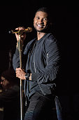 Usher performs during the 2016 Allstate Fan Fest at the Allstate Sugar Bowl in the Jax Brewery Parking Lot on December 30 2015 in New Orleans...