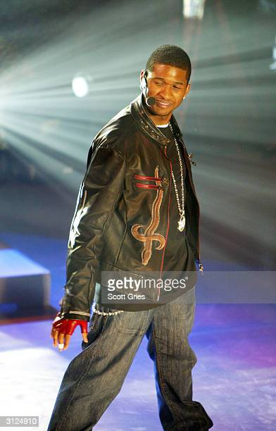 Usher performs for AOL to celebrate his new album release 'Confessions' at Webster Hall March 23 2004 in New York City
