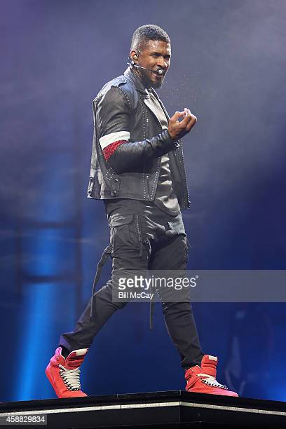 Usher performs live in concert at the Wells Fargo Center November 11 2014 in Philadelphia Pennsylvania