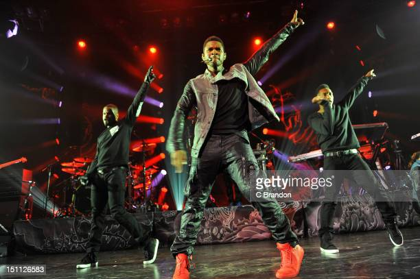 Usher performs on stage during the iTunes Festival at The Roundhouse on September 1 2012 in London United Kingdom