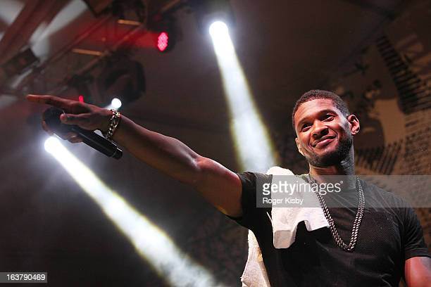 Usher performs with The Afghan Whigs at The Fader Fort presented by Converse during SXSW on March 15 2013 in Austin Texas