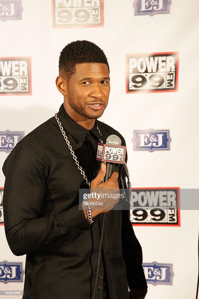 Usher poses at Power 99 Powerhouse 2012 at the Wells Fargo Center October 26, 2012 in Philadelphia, Pennsylvania.