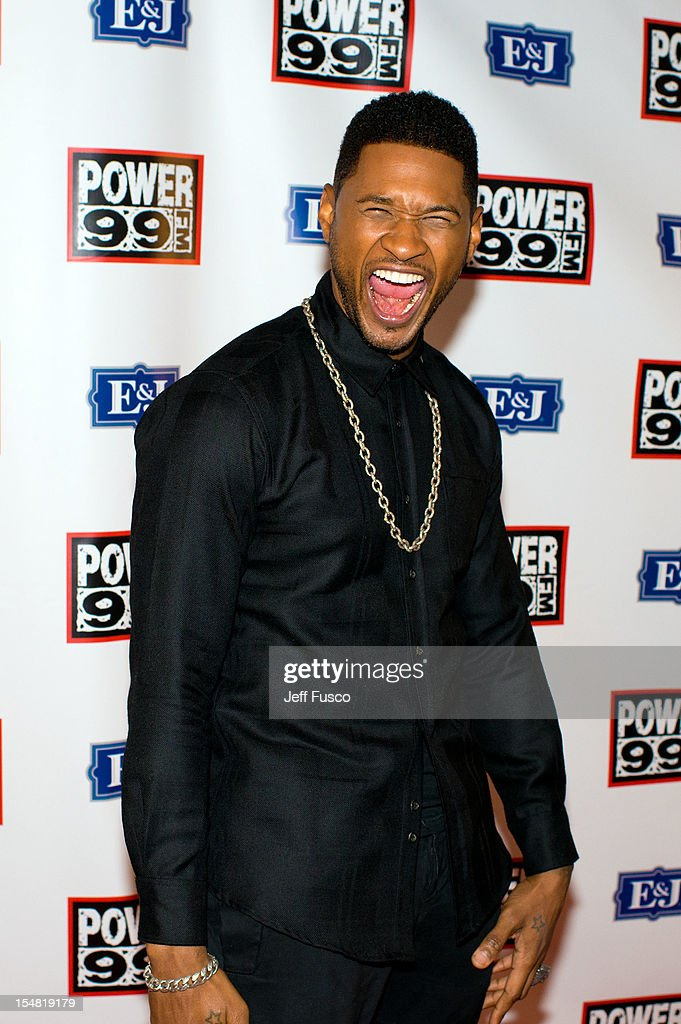 Usher poses at the Power 99 Powerhouse concert at the Wells Fargo Center on October 26, 2012 in Philadelphia, Pennsylvania.