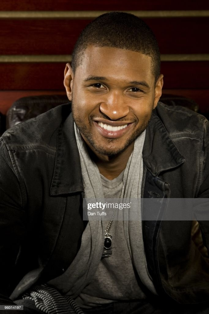 Usher poses during a portrait shoot in Los Angeles, California on March 26, 2010.