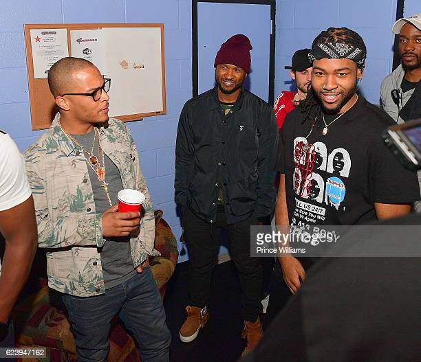 I Usher Raymond and Party Next Door Backstage at the PartyNextDoor and Jeremih Summer's Over Tour at The Tabernacle on November 14 2016 in Atlanta...