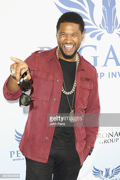 Usher Raymond attends the Pegasus World Cup at Gulfstream Park on January 28 2017 in Hallandale Florida
