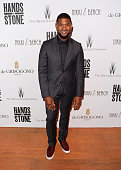 Usher Raymond attends The Weinstein Company's HANDS OF STONE After Party In Partnership With De Grisogono At Nikki Beach Carlton Beach Club on May 16...