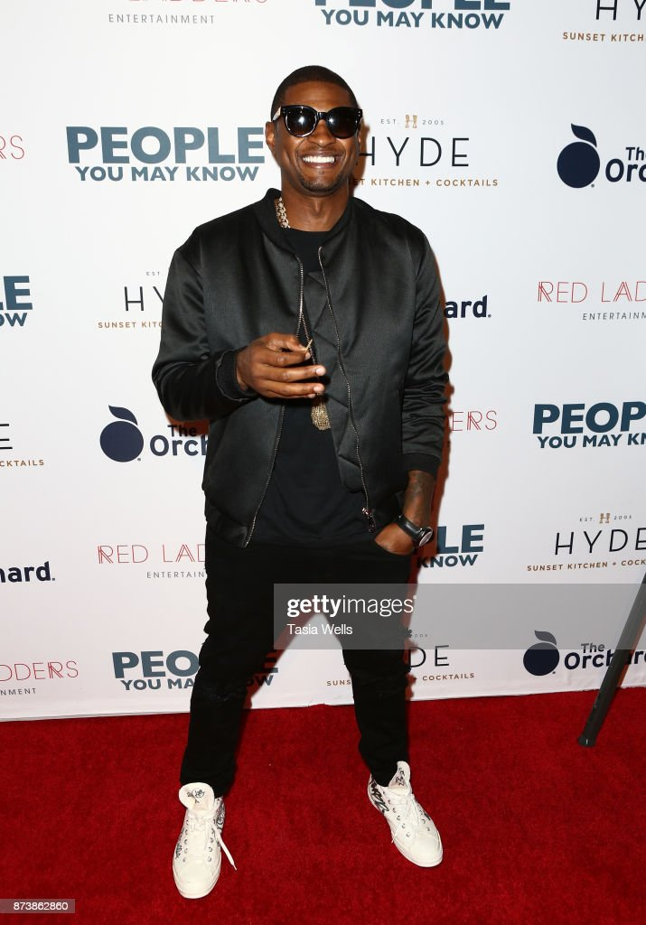 Usher Raymond IV at the premiere of The Orchard's 'People You May Know' at The Grove on November 13, 2017 in Los Angeles, California.