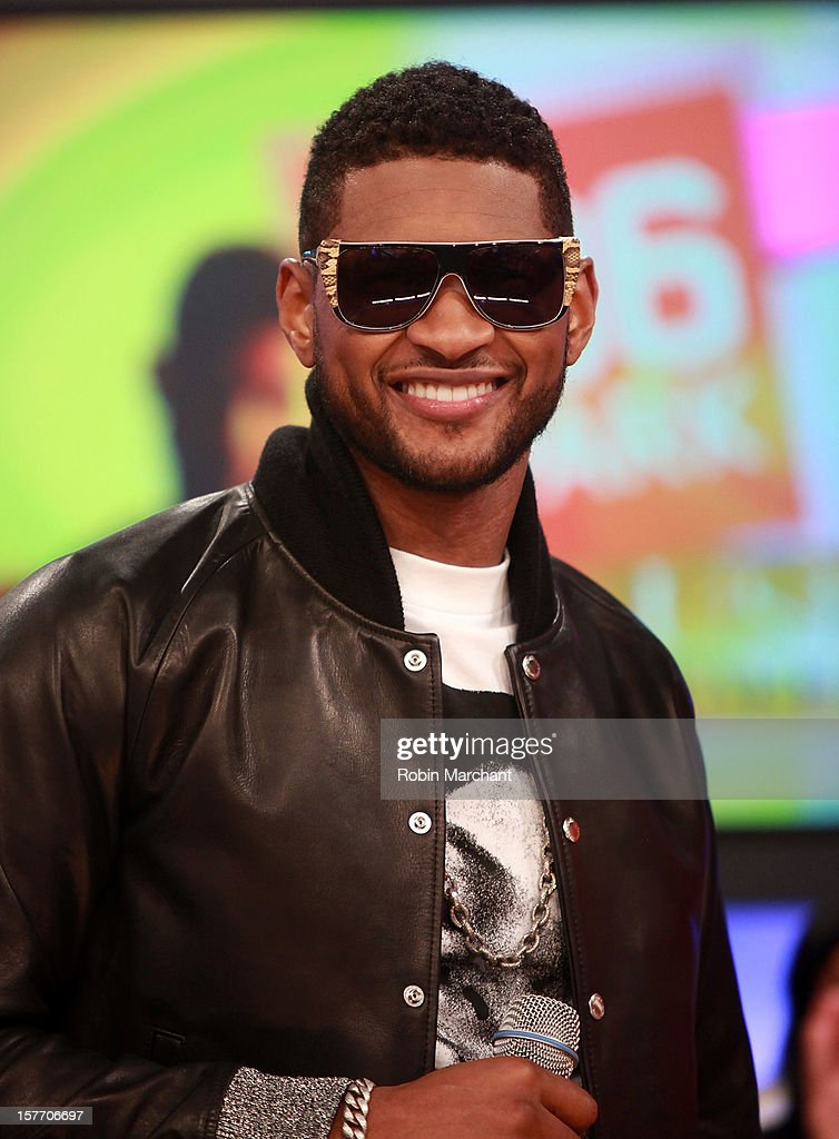 <a gi-track='captionPersonalityLinkClicked' href=/galleries/search?phrase=Usher+-+Singer&family=editorial&specificpeople=201477 ng-click='$event.stopPropagation()'>Usher</a> visits 106 & Park studio on December 5, 2012 in New York City.