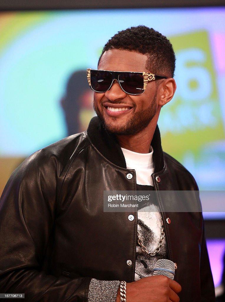 Usher visits 106 & Park studio on December 5, 2012 in New York City.