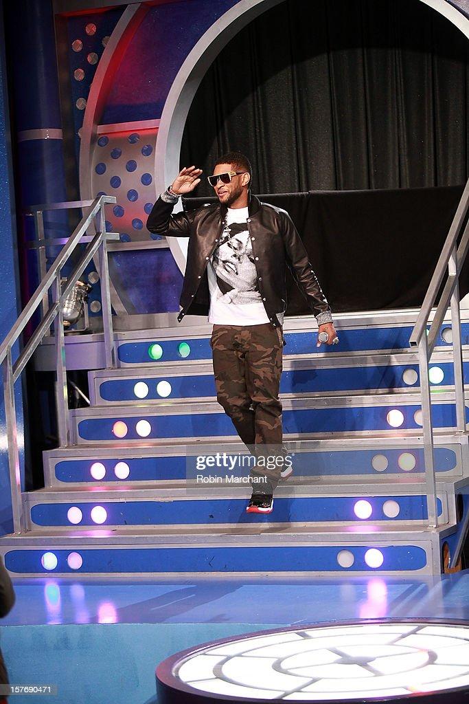 Usher visits at 106 & Park Studio on December 5, 2012 in New York City.