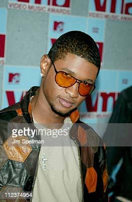 Usher wearing Diesel Helix sunglasses during Safilo at the 2002 MTV Video Music Awards at Radio City Music Hall in New York City New York United...