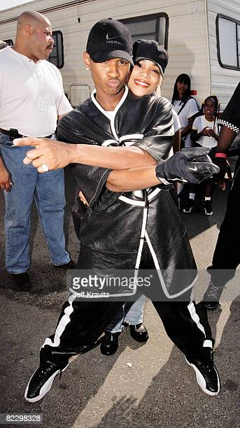 Usher with Lisa 'Left Eye' Lopes of TLC at Nickelodeon's 1997 The Big Help in Los Angeles