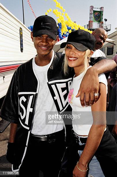 Usher with TBoz of TLC at Nickelodeon's 1997 The Big Help in Los Angeles