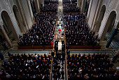 Ushers guide the casket during the funeral Mass for Associate Justice Antonin Scalia at the Basilica of the National Shrine of the Immaculate...
