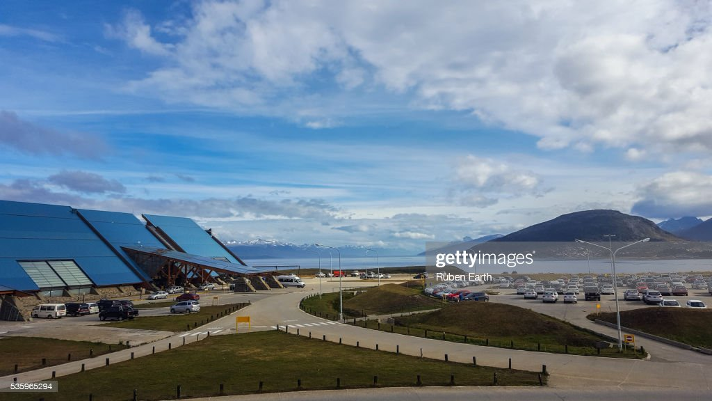 Ushuaia Airport parking lot : Stock Photo
