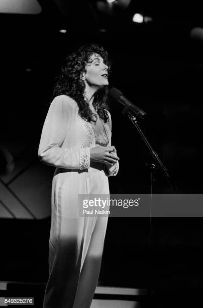 usician Kathy Mattea performs onstage on the set of the Oprah Winfrey Show Chicago Illinois July 23 1990