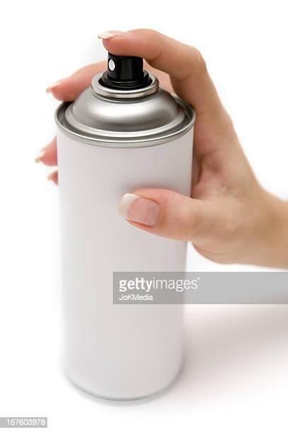 Utilisant une bombe de peinture peut