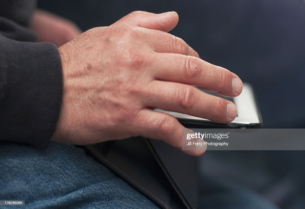 Using a tablet : Stock Photo