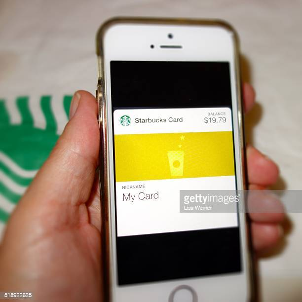 Using Apple's Passbook App to pay for a cup of coffee at Starbucks