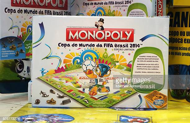 Using football to sell products FIFA Brazil 2014 version of the board game Monopoly in the Diamond Shopping Mall in Belo Horizonte Brazil