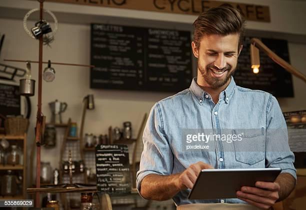 Com tecnologia moderna para executar o negócio