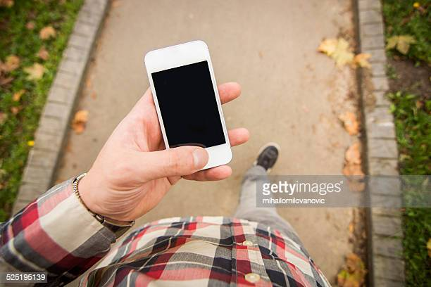 スマートフォンを使用して