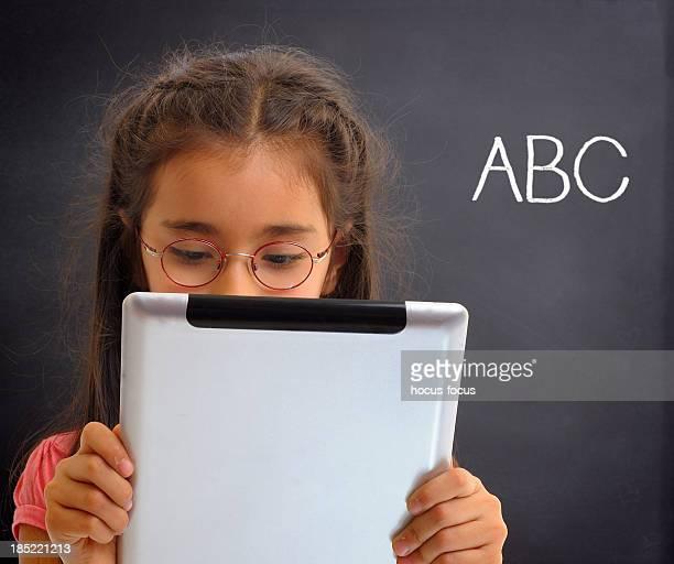 Using tablet computer in school