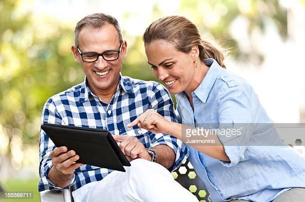 Utilizzando il loro Tablet PC